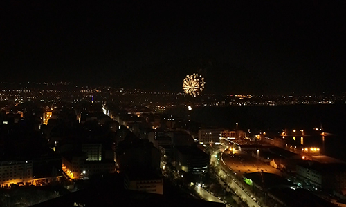 Fireworks | Thessaloniki. GR (2020, Jan 1) | Drone 4K View